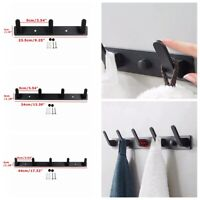 Aluminum Key Coat Clothes Door 3 to 5 Hooks Holder Rack Hook Wall Mounted Hanger