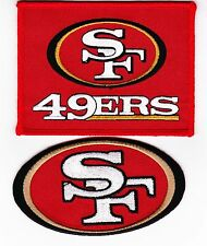 2 SAN FRANCISCO 49ers SEW/IRON ON PATCH JERSEY JACKET CAP HAT NFL FOOTBALL
