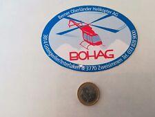 VINTAGE adesivo STICKER kleber avio aviazione bohag helikopter mod e elicottero