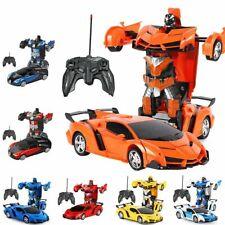 Transformer Auto Rennauto Roboter mit Fernbedienung Motor Tolle Spielzeug DHL