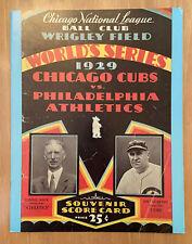 1929 WORLD SERIES BASEBALL PROGRAM ATHLETICS vs CHICAGO CUBS - OPIE 000/1000
