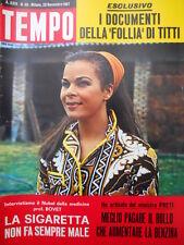 TEMPO n°48 1967 Kim NOVAK - Storia di casa Savoia Maria Josè di Savoia [C55]