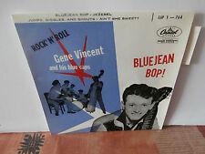 """gene vincent""""bluejean bop 1""""ep7"""".fr.capitol:eap1.764.label vert languette"""
