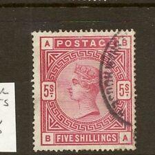 GB 1883 SG180 5/- ROSE CDS FINE USED