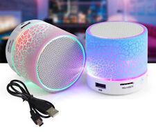 LED Light Mini Bluetooth Speakers Wireless Bass Speaker With TF USB FM Radio