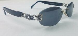 """Brighton Sunglasses """"Send Me No Flowers"""" A11133-135 Black Silver Accent 56[]15"""