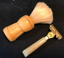 Old Vtg 1937 Eversharp Schick Razor & Made Rite Shaving Brush LOT