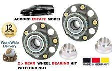 FOR HONDA ACCORD TOURER ESTATE MODEL 2003-2008 NEW 2x REAR WHEEL ABS BEARING KIT