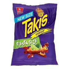 Takis Fuego Hot Chili Pepper & Lime Flavored Corn Snacks Fiesta...