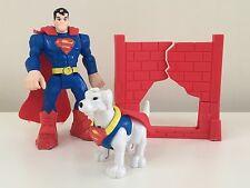 Mattel DC Comics Justice League Superman, Wall and Krypto SuperDog 3-pc Play Set