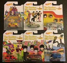 2016 Hot Wheels The Beatles Yellow Submarine Series (set of 6 cars)