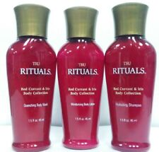 TRU RITUALS RED CURRANT & IRIS TRAVEL SIZE SHAMPOO, BODY WASH, LOTION 12 Bottles