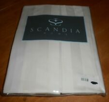 New Scandia Home Style G811 15 01 Ivory Tailored Bed Skirt Twin Sateen Stripe