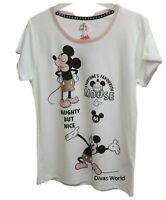 Disney Mickey Mouse Top Women's Ladies Cotton Tee Summer Casual T-shirt Primark