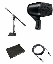 Shure*PGA52 Bundle*PG52 Kick Drum Microphone with XLR Cable + Drum Mic Stand NEW