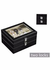 2Tier 20 Slot Luxury Watch Display Box Case For Rolex Cartier Omega Longines Tis