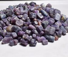 50g Natural Blue Red Purple Corundum Ruby Crystal Rough Sapphire Specimens