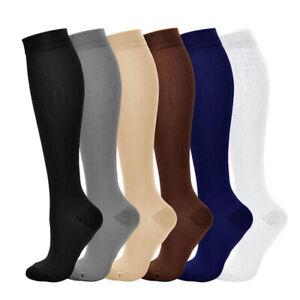 Unisex Compression Socks Pressure Varicose Veins Leg High Support Long Sockings