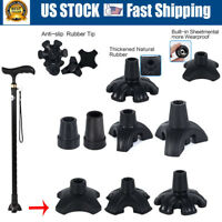 Walking Stick Non-slip Self Standing Tripod Tip End Cap For Crutch Canes Leg