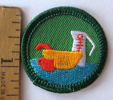 Retired Girl Scout 2001-11 Junior LET'S GET COOKING BADGE Baking Chef Food Patch