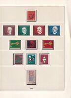 Deutschland ..  1966 - 1968 ... Postfrisch ..  12 Bilder