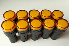 10pcs 12V AC DC 16mm Yellow LED Indicator Signal Light AD16-16C CE UL