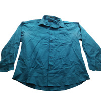 Pierre Cardin Women Extra Large Casual Shirt Blue Long Sleeve Button Front 05582