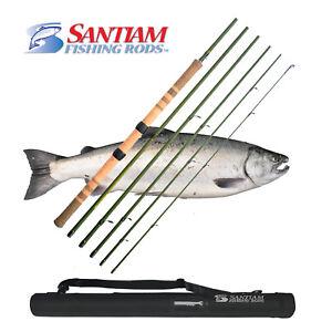 "SANTIAM FISHING RODS 6 PC 11'6"" 6-10 LB CENTERPIN/FLOAT ALASKAN TRAVEL SERIES"