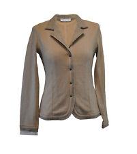** RIVAMONTI by Brunella Cuccinelli ** Tan & Tweed Jacket * Medium * Wool / Silk