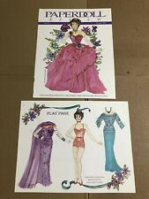Jane Withers Fashion & Paper Doll 2-Page Magazine Clipping