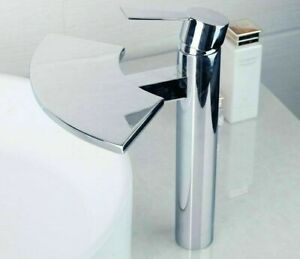 Basin Mixer Tap Faucet Waterfall Spout Kitchen Bathroom Sinks Washbasin Faucets