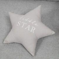 Bambino Little Star Shape Grey Linen Cushion Cot Bed Babyshower Newborn Nursery