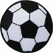 Football Patch Embroidered Soccer Ball Badge Iron / Sew On T Shirt Bag Jeans Top