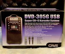 305G Karaoke USB CDG DVD Player System With Built In Speakers Slightly Used