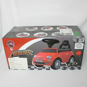 Ride On Car Fiat 500 Model Baby Toddler Toy Push Car Stroller, Red