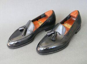 John Lobb LTD Bespoke Black Calf Leather Tassel Loafers 10.5UK 11.5US