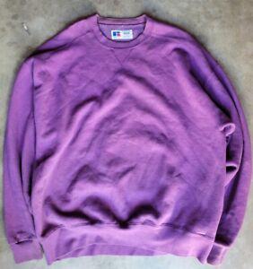 VTG Russell Athletic High Cotton Purple Crew Neck Sweatshirt Mens Sz XL USA Made
