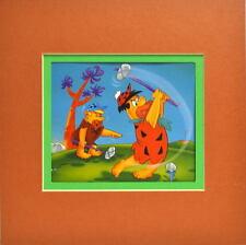 Flintstones - FRED DON'T GOLF Print Professionally Matted Barney