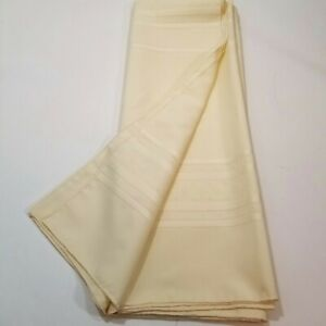 Yellow Rectangle Tablecloth Size 59x82 Line Woven Design Pattern