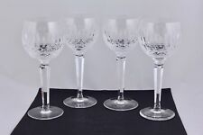 "WATERFORD CRYSTAL SET OF 4 COLLEEN 7-1/4"" WINE HOCK GLASSES - MINT"