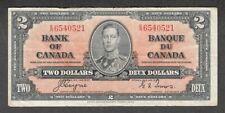 1937 $2.00 BC-22c aVF * Very NICE King George VI COYNE-Towers Canada Two Dollars