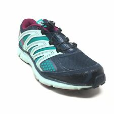 Women's Salomon X-Mission 2 Running Shoes Sneakers Size 7.5 Navy Mint Teal AB14