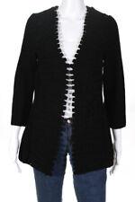 Charlie & Robin Womens Cardigan Sweater Black Wool Size Medium