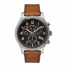 Mens Wristwatch TIMEX ALLIED LT TW2T32900 Chrono Leather Brown Black Sub 100mt