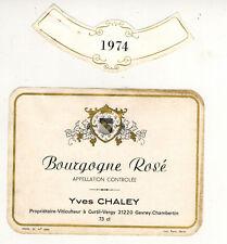 Etiquette de Vin (73cl) - Bourgogne Rosé -Yves.Chalet - Curtil-Vergy - Réf.411