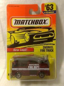 Matchbox Orange Snorkel Fire Truck #63 1:64 Scale Diecast mb1748