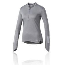 Abbigliamento sportivo da donna adidas grigio a manica lunga