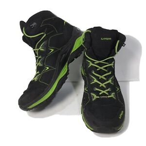 Lowa Men's Size 10.5 Hi-Top Hiking Boots-Gore-Tex-Monowrap #9903 Black/Nero Lime