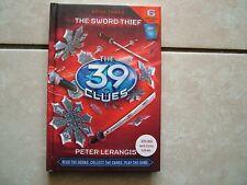 THE 39 CLUES.  BOOK THREE.  THE SWORD THIEF.  RICK RIORDAN.  WITH CARDS.  VGC
