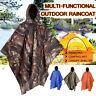 Outdoor Adventures Poncho Waterproof Hoody Raincoat Camping Mat Hiking Rain Coat